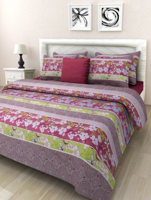 Swastika Cotton Printed Double Bedsheet