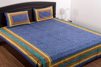 Vivid Rajasthan Cotton Paisley Double Bedsheet