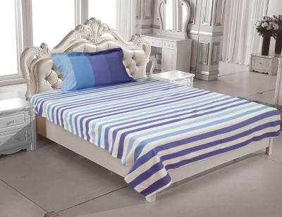 Elan Cotton Striped Single Bedsheet