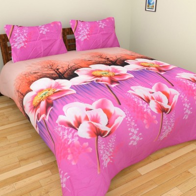 Angiela Home Fab Cotton 3D Printed Double Bedsheet