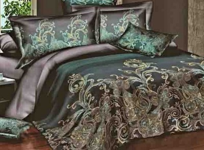 Silver Thread Polycotton Abstract King sized Double Bedsheet