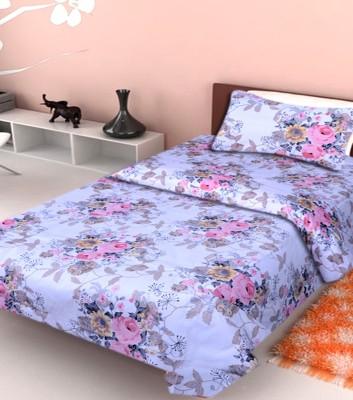 NITAVI Cotton Floral Single Bedsheet