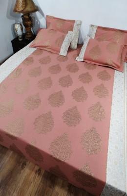 Heritagefabs Cotton Abstract Queen sized Double Bedsheet