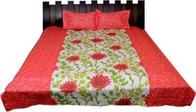 Nathi and Nancy Cotton Floral King sized Double Bedsheet