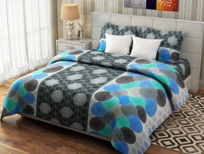 Desi Connection Cotton Polka Double Bedsheet