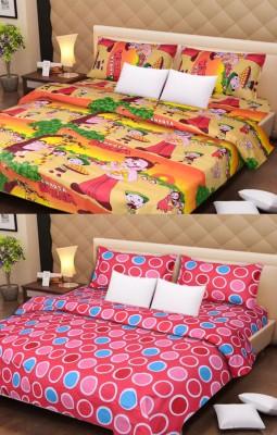 amit enterprises Polycotton Floral Double Bedsheet