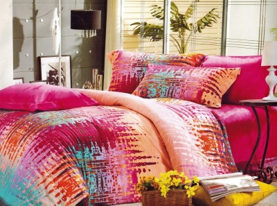 Balaji Creations Polycotton Abstract Double Bedsheet