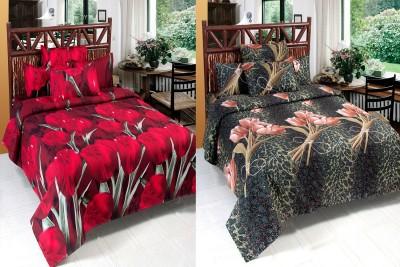 BSB Trendz Polycotton Floral Double Bedsheet