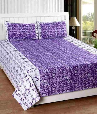 Home And Craft Cotton Abstract Double Bedsheet