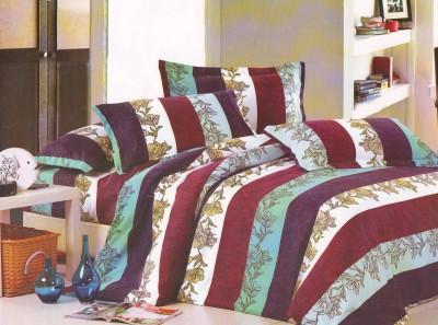 Vibrant Homze Cotton Striped Double Bedsheet