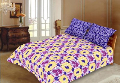 Blush Cotton Floral King sized Double Bedsheet