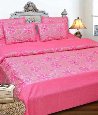 Saksham Polycotton Floral Double Bedsheet