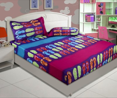 Zyne Cotton, Satin Abstract Double Bedsheet
