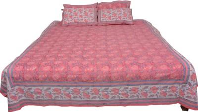 Chhipa Prints Cotton Floral Single Bedsheet