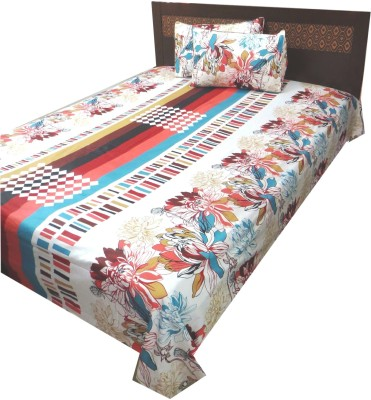 The perfect comfort Cotton Geometric Double Bedsheet