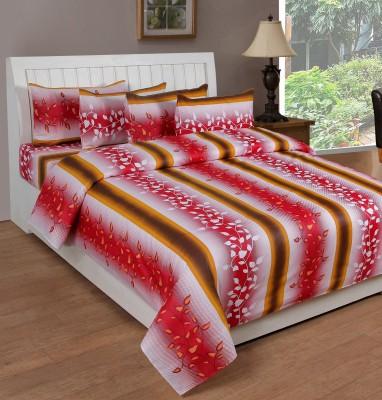 Saluja Enterprises Polycotton Checkered Double Bedsheet