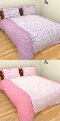 Click Shoppe Cotton Floral Double Bedsheet