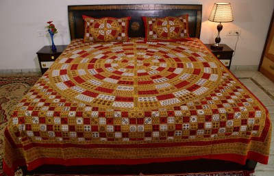 Prabha Creation Cotton Geometric King sized Double Bedsheet