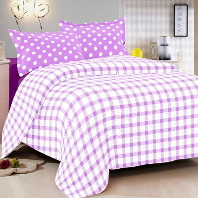 Vintana Cotton Checkered Queen sized Double Bedsheet
