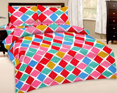 Ridan Cotton Abstract Double Bedsheet