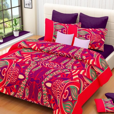 Lissome Cotton Floral King sized Double Bedsheet