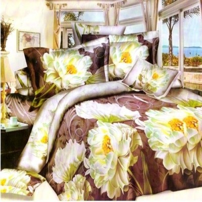 Sai Arpan Polyester Printed Queen sized Double Bedsheet