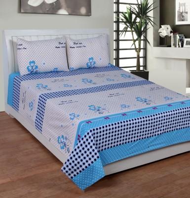 Casa Confort Cotton Printed Double Bedsheet