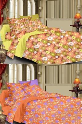 Cizara Cotton Floral Double Bedsheet