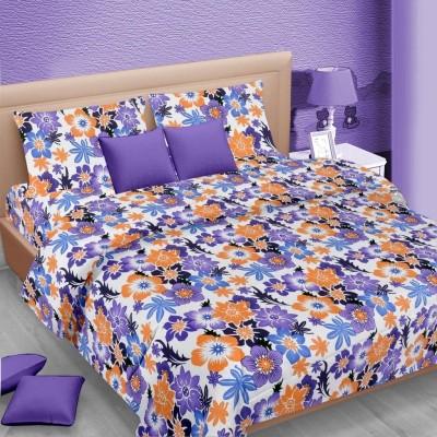 Vorhang Cotton Linen Blend Floral Double Bedsheet