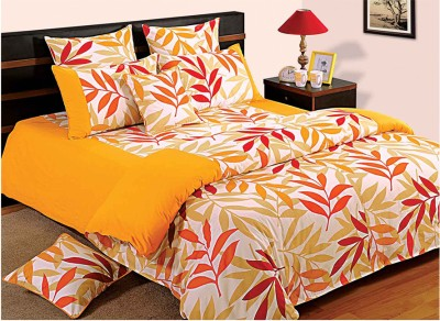 Swayam Floral Double Quilts & Comforters Yellow