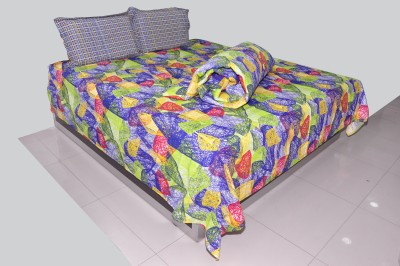 Trident Cotton Abstract Double Bedsheet