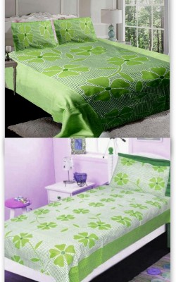 Attractivehomes Cotton Floral Double Bedsheet
