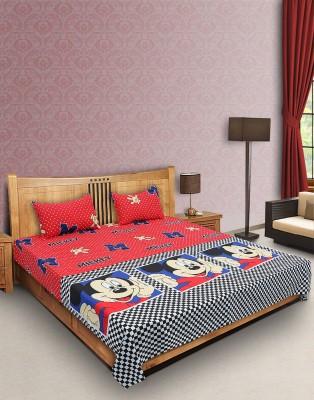 Casa Grace Cotton Cartoon Double Bedsheet