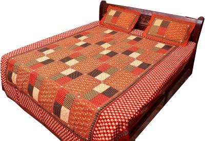 Vintage Krafts Cotton Printed Double Bedsheet