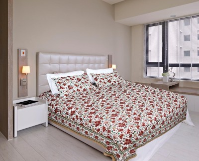 Glitter Cotton Floral King sized Double Bedsheet