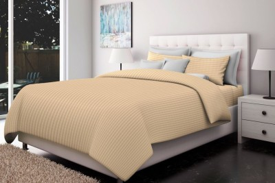 Just Linen Cotton Striped Double Bedsheet