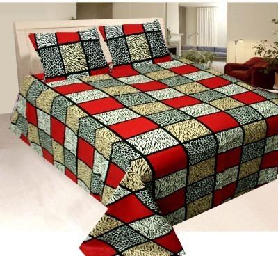 Elegance Cotton Checkered Double Bedsheet