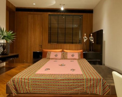 Elegance Cotton Embroidered Double Bedsheet