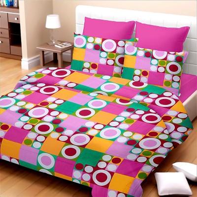 SurprizeMe Cotton Geometric Double Bedsheet