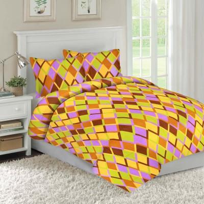 Adithya Cotton Geometric Double Bedsheet