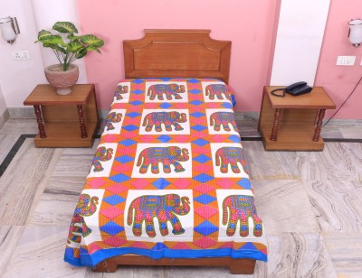 PAWAN TEXTILES Cotton Printed Single Bedsheet