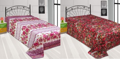 Galaxy Home Furnishing Polyester Floral Single Bedsheet