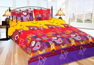 Daddu Enterprises Polycotton Printed Double Bedsheet