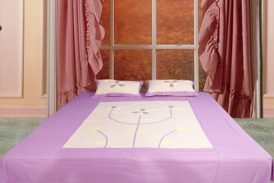 Spree Cotton Embroidered Double Bedsheet