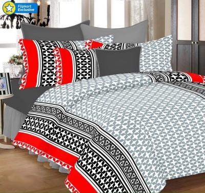 PrintStar Cotton Abstract Double Bedsheet