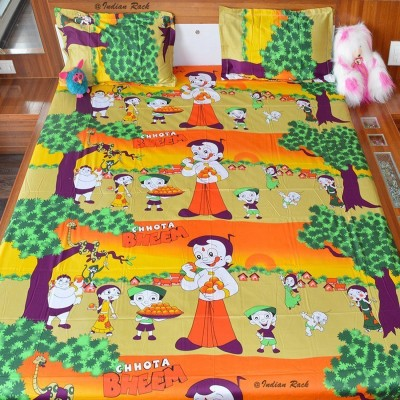 Indian Rack Cotton Cartoon King sized Double Bedsheet
