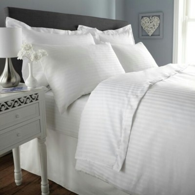 N DeCor Satin Striped Double Bedsheet