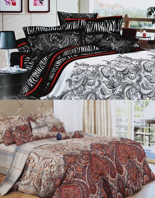 Home Basics Polycotton Paisley King sized Double Bedsheet