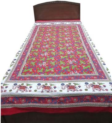 Indiatrendzs Cotton Printed Single Bedsheet