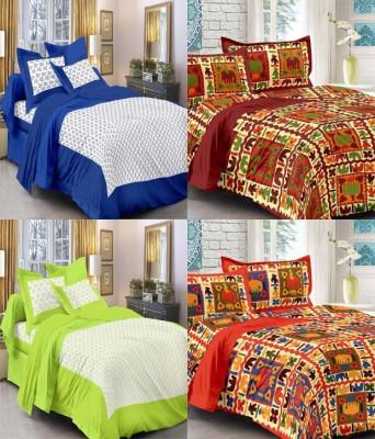 Kismat Bedding Collection Cotton Printed Double Bedsheet